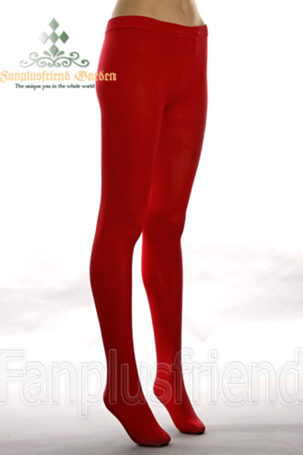 Basic Solid Color Leggings Thick Tights*Red