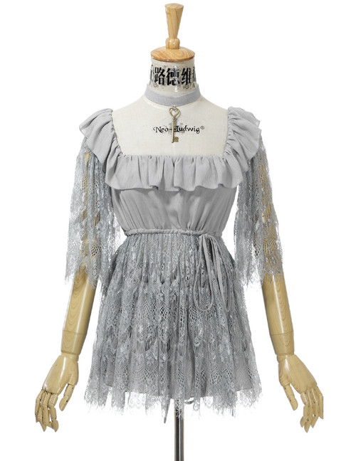 Front View (Light Grey Version) Skirt Piece worn underneath the Cutsew