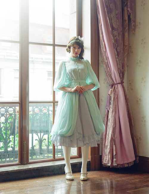 Model Show (Mint + Light Grey Ver.) (headdress: P00608, petticoat: CT00040S)