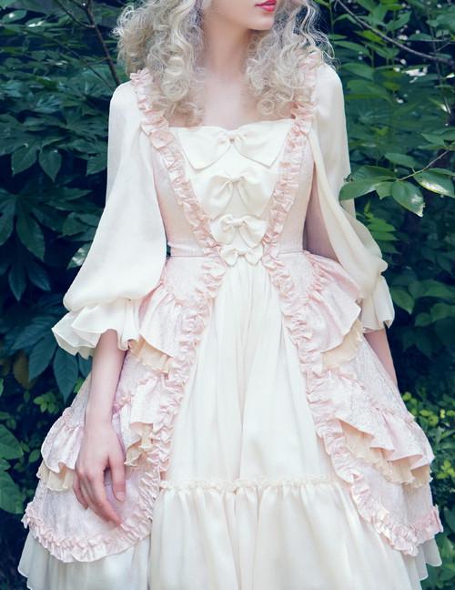 aedf537ba0f Vintage Rococo Lolita Retro Midi Dress Wedding Dress Ladies Summer Prom  Dress Pink Lilac