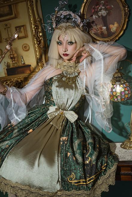Model Show (Dark Green + Gold + Light Ivory Ver.) (headdress: P00743)