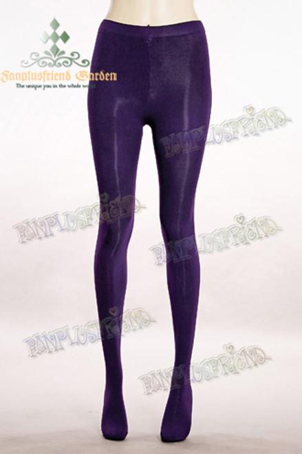 Basic Solid Color Leggings Tights*Dark Purple