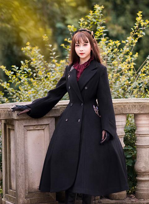 Model Show (Black Ver.) (headdress: P00636, dress: DR00239, petticoat: UN00026, blouse: TP00170, gloves: P00581)
