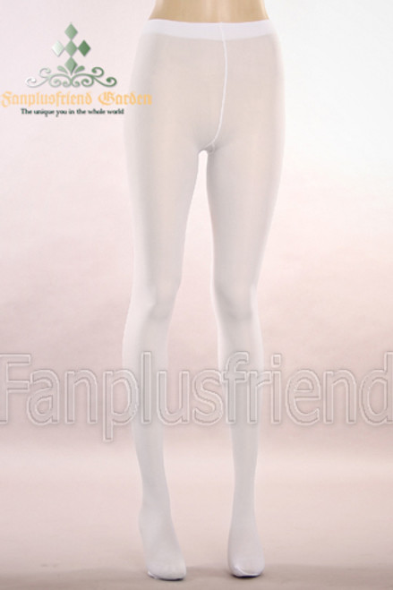 Basic Solid Color Leggings Tights*White
