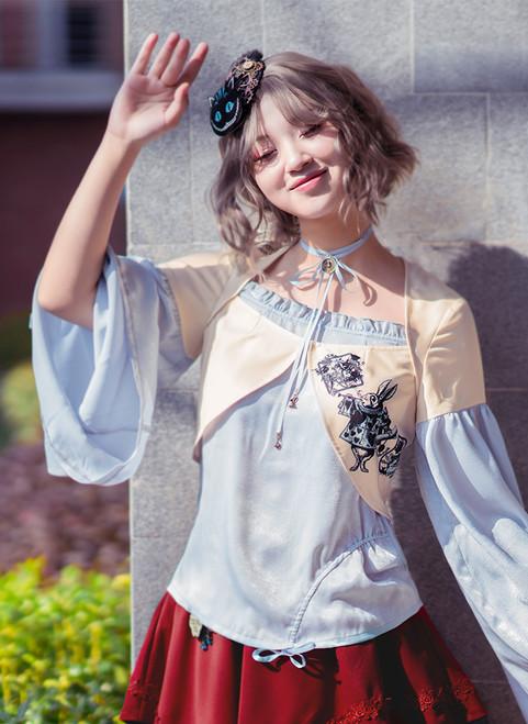 Model Show (Misty Blue + Ivory Ver.) (headdress: P00622, skirt: SP00197, neck ribbon from TP00172)