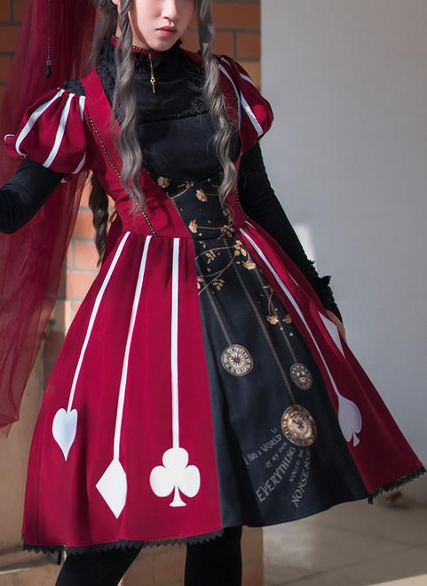 Model Show (Burgundy + Black Ver.) (underdress: DR00187, petticoat: UN00026, wristlets: P00530)