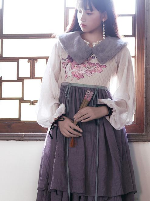 Model Show (blouse underneath: TP00179, skirt underneath: SP00203)