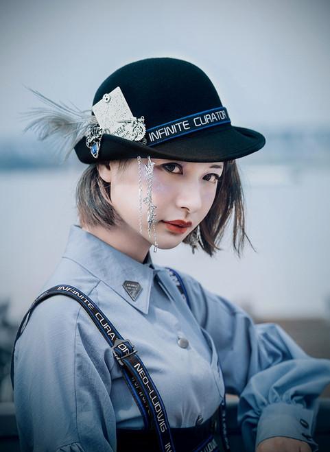 Model Show (Blue Striped Band Ver.) (blouse: TP00181, dress: DR00256)