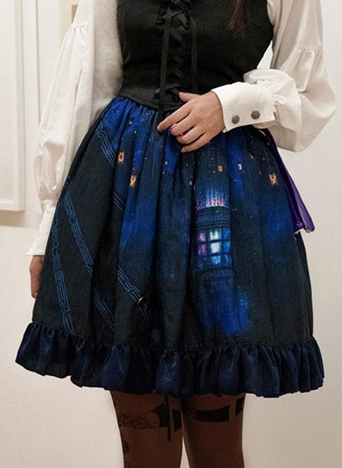 Model Show (Shadow Blue Ver.) (blouse: TP00181, vest: TP00164, petticoat: UN00027)