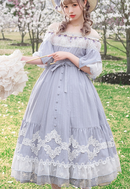 Model Show (Pale Lilac Stripe Ver.) (hat: P00673, underskirt: SP00207, petticoat: CT00040S)