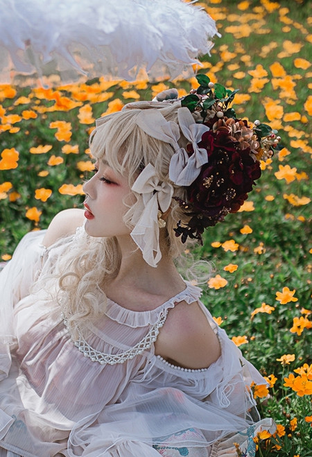 Model Show (Light Beige Ver.) Hair bows ONLY (blouse: TP00183)