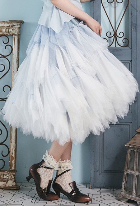 1874f7a7d1 Berry Scent, Lolita Fashion Deluxe Chic Tiered Handmade Soft Tulle  Petticoat Bustle 3-Way Midi Skirt*3colors