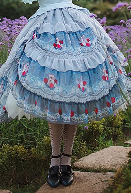 Model Show (Light Grey Ver.) with optional skirt piece SP00210 (blouse: TP00157N, underskirt: UN00030)
