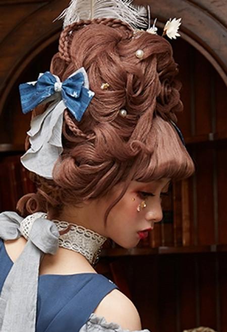 Model Show (Dark Blue + Light Grey Ver.) (floral JSK: DR00268, long sleeves underdress: DR00266)
