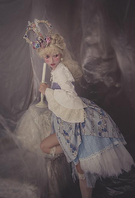 Model Show (Pale Blue Lavender + Lilac Ver.) (blouse: TP00184, skorts: SP00211, bustle skirt: UN00030)