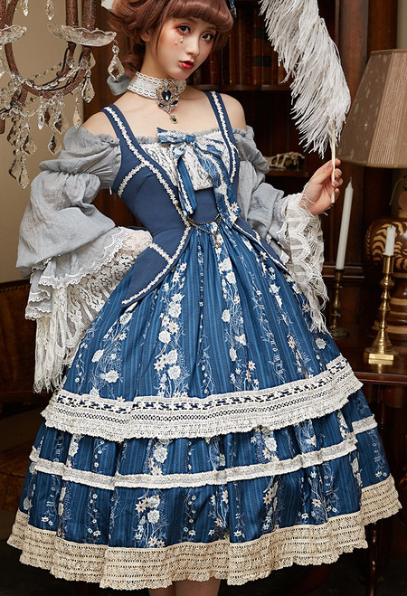 Model Show (Dark Blue + Dark Blue Ver.) (long sleeves underdress: DR00266, petticoat: UN00019, UN00026)