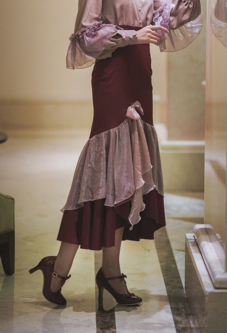 Model Show (Burgundy + Antique Pink Ver.) (blouse: TP00185)