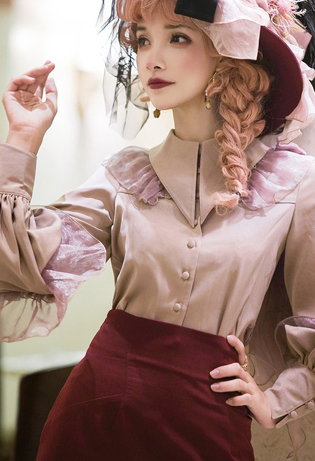 Model Show (Antique Pink + Pink Bows Ver.) (hat: P00690, skirt: SP00213)