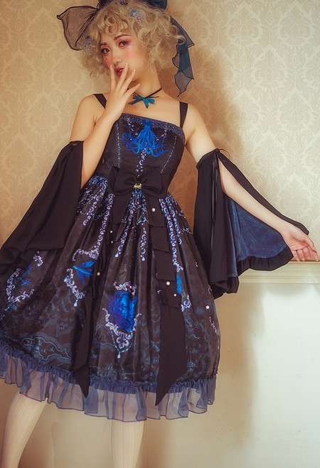 Model Show (Black Jellyfish Ver. with Optional Sleeve Pieces P00685) (petticoat: UN00019)