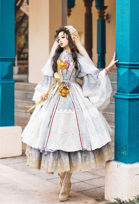 Model Show (Light Grey Ver. with Optional Underskirt UN00032S) (veil set: P00696, petticoat: UN00028)
