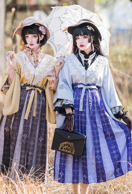Model Show (Roasted Tea+Yellow Tea & Purple Tea+Butterfly Pea Tea Latte Ver.) (hat: P00702, jacket: CT00323, blouse: TP00191, skirt: SP00218)