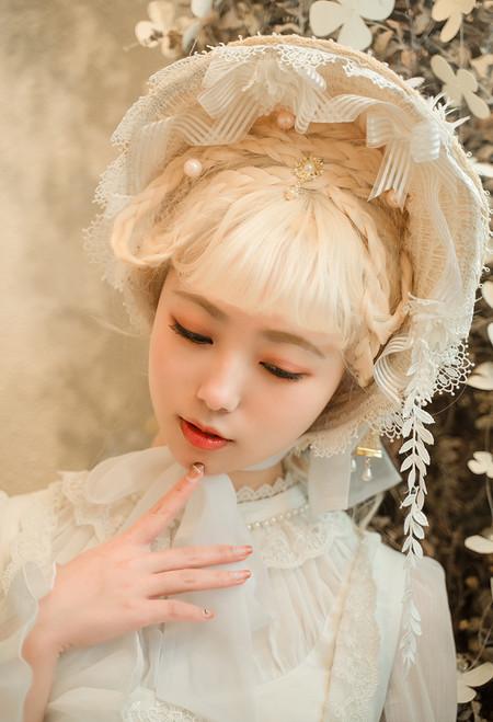 Model Show (Beige + White Belt Ver.) (dress: DR00242N)