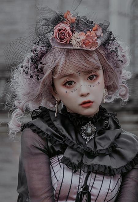 Model Show (Antique Pink Ver.) (blouse: S01008, corset dress: DR00289) *mesh veil NOT included