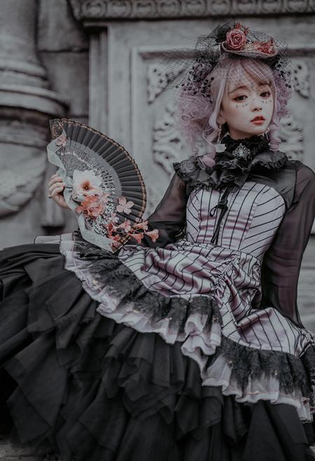 Model Show (Antique Pink Ver.) (blouse: S01008, corset dress: DR00289, underskirt: UN00030N) *mesh veil NOT included