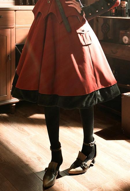 Model Show (Burgundy Ver.) (jacket: CT00262N, petticoat: UN00026)