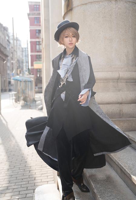 Model Show (Black + Pale Blue Ver.) (vest: CT00325, pants: SP00225)