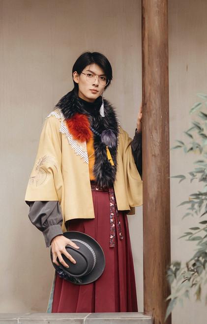 Model Show (Black + Burgundy Ver.) (jacket: CT00323N, vest: CT00330, shirt: TP00196, skirt: SP00198N)