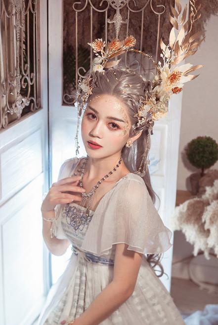Model Show (Pearl White + Golden Branch Leaf Ver.) (dress: DR00295)