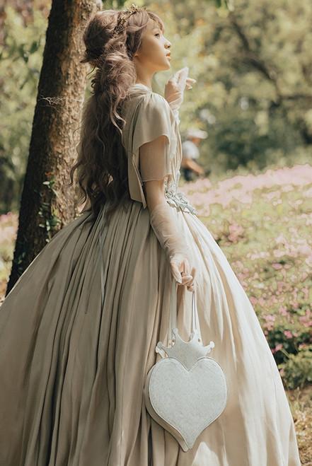 Model Show (White + Pale Blue Prints Ver.) (dress: DR00297, corset: Y00048)