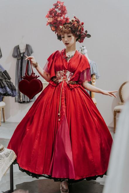 Model Show (Burgundy Ver.) (dress: DR00297, corset: Y00048)