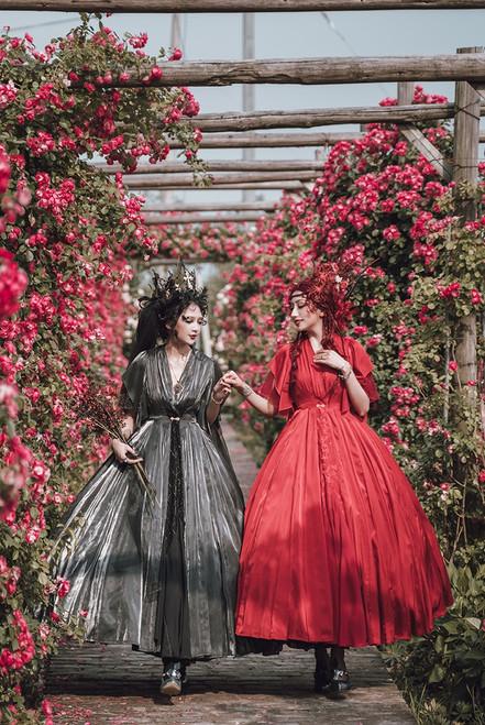 Model Show (Burgundy & Deep Grey Ver.) *Petticoat underneath NOT for sale.