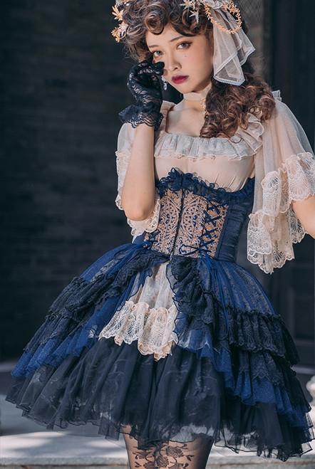 Model Show (Dark Blue Ver.) (headdress: P00732, blouse: TP00163N, skirt: UN00026N)