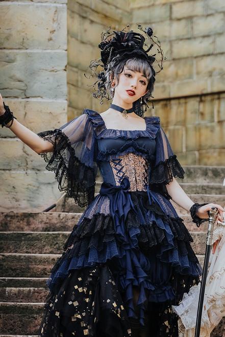 Model Show (Dark Blue Ver.) (corset: Y00025X, shorts: SP00208, skirt piece: UN00030B)