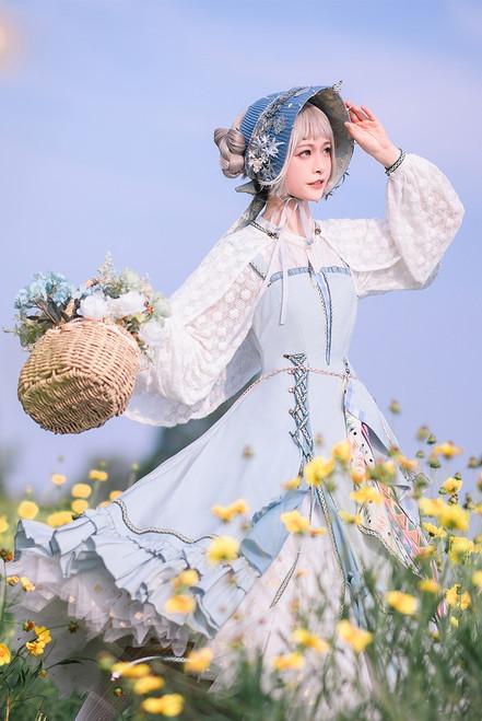 Model Show (Light Blue Ver.) (JSK: DR00296, skirt piece: CT00332, shirt & cape: TP00197, underskirt: UN00030N)