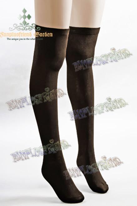 Gothic Lolita High Stockings*Deep Brown