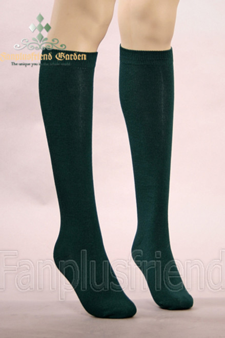 Gothic Lolita Under-Knees Thick Stockings*Dark Green