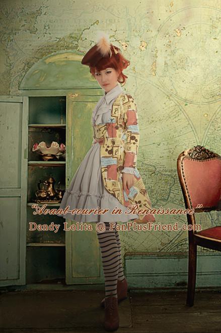 ivory dress + beige&white stripes skirt
