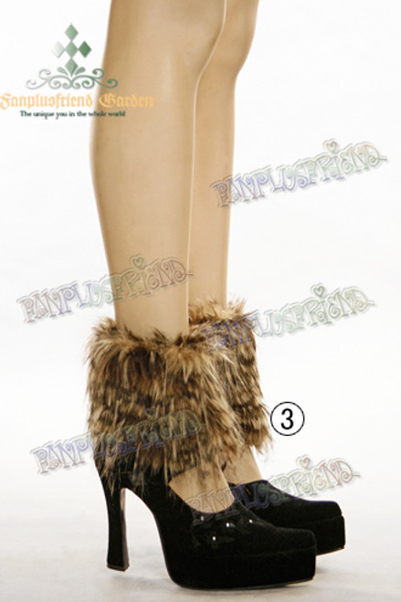 Winter Casual Lolita Fake Fur Short Spats*2colors Instant Shipping