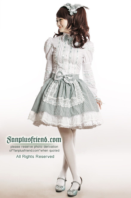 Model View (Version white+mint stripes) Items in photo (sell separately) backpack SKU: P00380  tights SKU: P00187