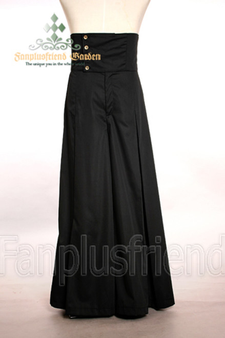 Elegant Gothic Aristocrat High Corset Waist Pleated Wide Pants