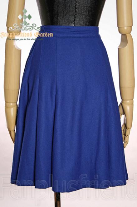 Last Chance: Elegant Gothic Aristocrat light Wool Pleated Skirt*Instant Shipping
