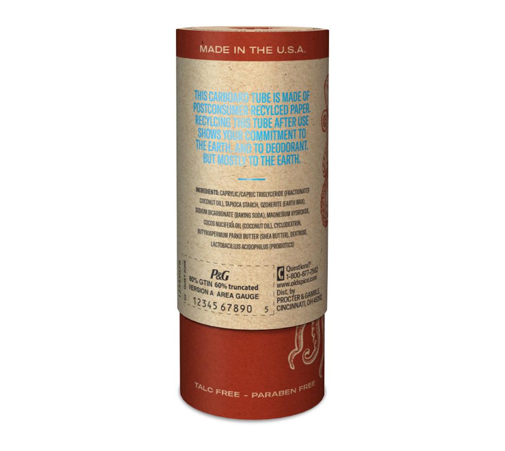 Old Spice Clean Ocean Cardboard Deodorant