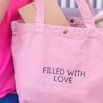 Wholesale pink cotton bags