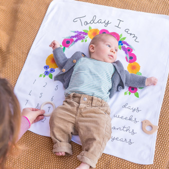 Wholesale baby milestone blanket