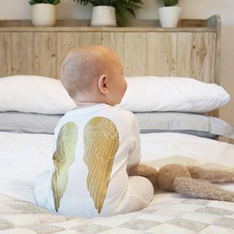 Wholesale angel baby sleepsuit