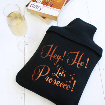 'Let's Prosecco' Hot Water Bottle Cover